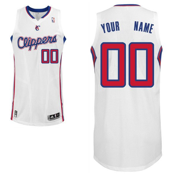 Men Los Angeles Clippers White Custom Authentic NBA Jersey
