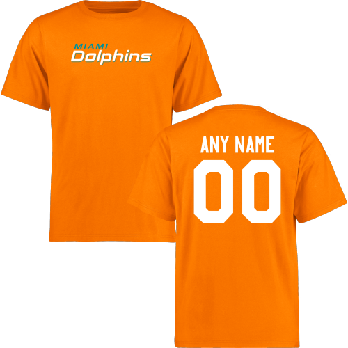 Men Miami Dolphins Design-Your-Own Short Sleeve Custom NFL T-Shirt