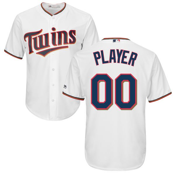 Men Minnesota Twins Majestic White Cool Base Custom MLB Jersey