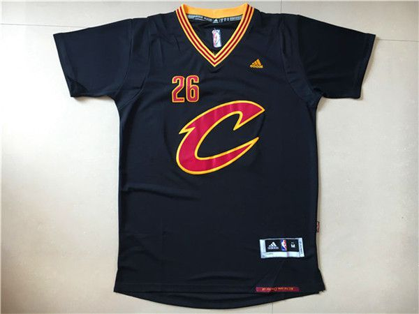 Men NBA Cleveland Cavaliers 26 Korver Black Jerseys
