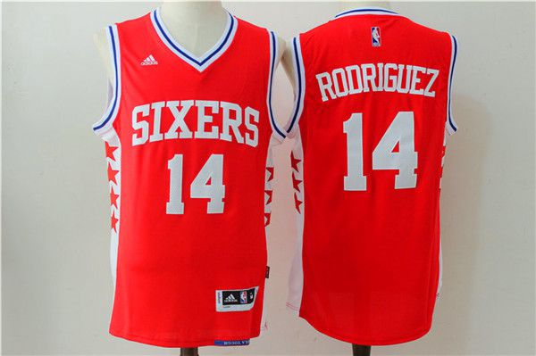 Men NBA Philadelphia 76ers 14 Rodriguez red Jerseys