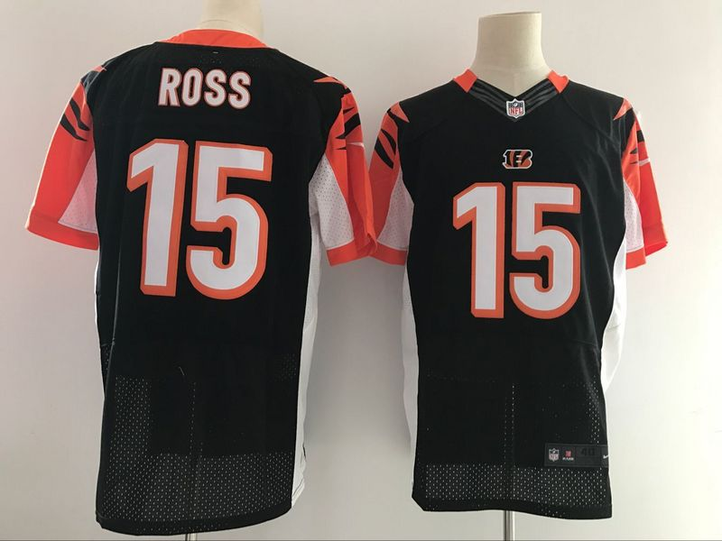 Men NFL Cincinnati Bengals 15 Ross Black Nike Elite Jerseys