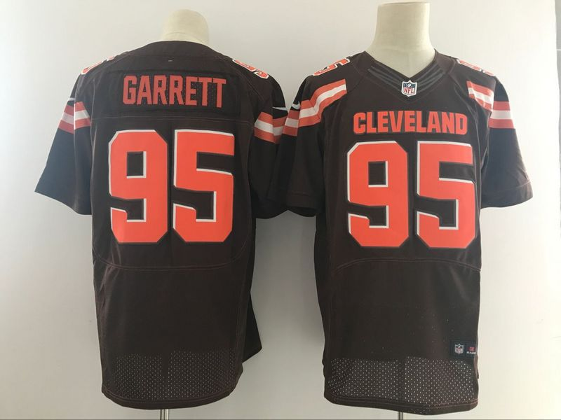 Men NFL Cleveland Browns 95 Garrett Brown Nike Elite Jerseys