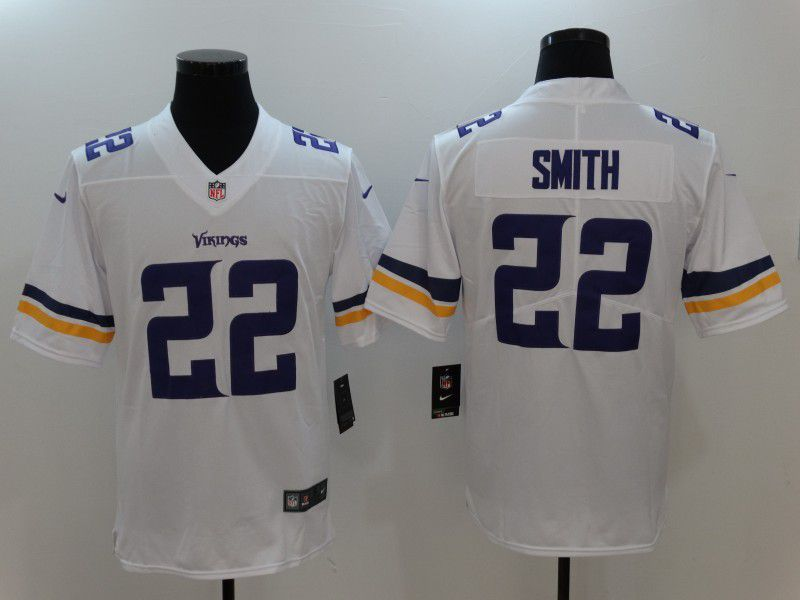 Men NFL Minnesota Vikings 22 Smith White Nike Vapor Untouchable Limited Jersey