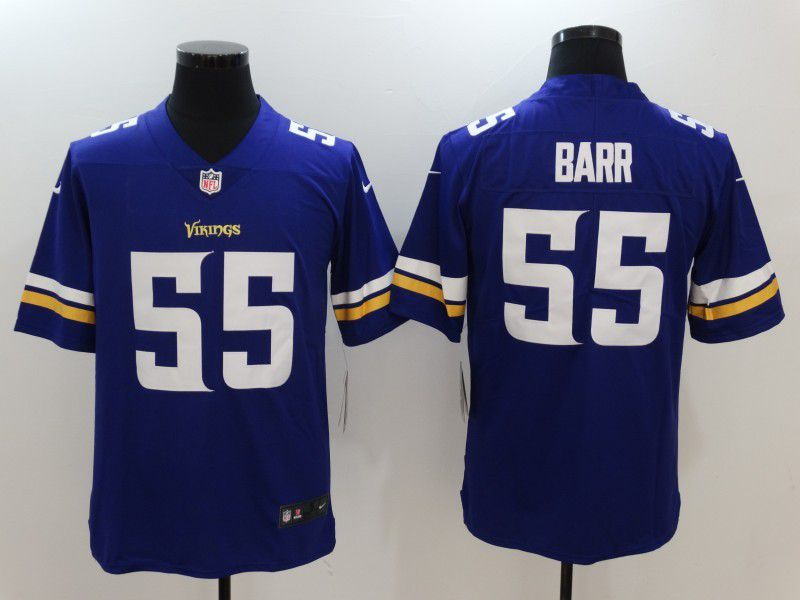 Men NFL Minnesota Vikings 55 Barr Purple Nike Vapor Untouchable Limited Jersey