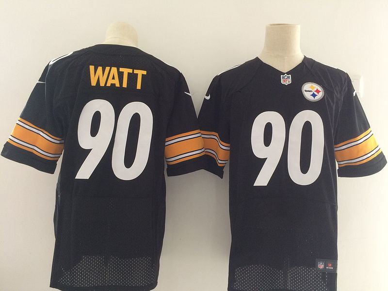 Men NFL Pittsburgh Steelers 90 Watt Black Nike Elite Jerseys