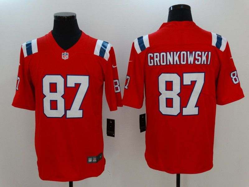 Men New England Patriots 87 Gronkowski Red Nike Vapor Untouchable Limited NFL Jersey