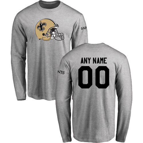 Men New Orleans Saints Design-Your-Own Long Sleeve Custom NFL T-Shirt