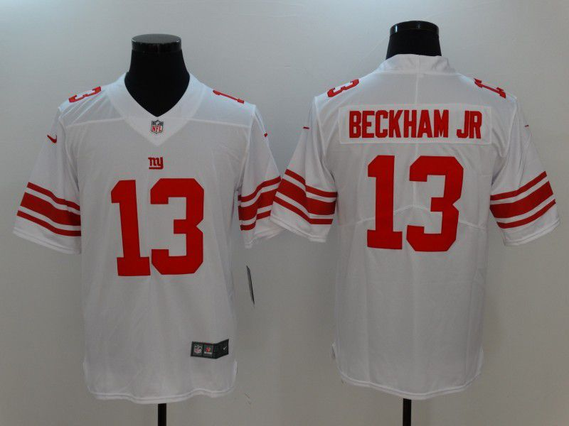 Men New York Giants 13 Beckham JR White Nike Vapor Untouchable Limited NFL Jersey