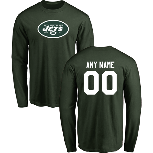 Men New York Jets Design-Your-Own Long Sleeve Custom NFL T-Shirt