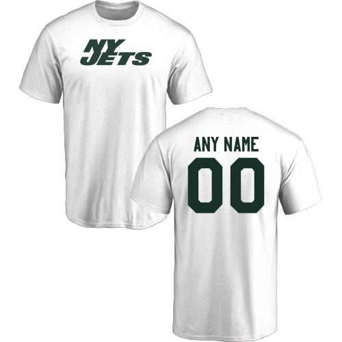 Men New York Jets Design-Your-Own Short Sleeve Custom NFL T-Shirt