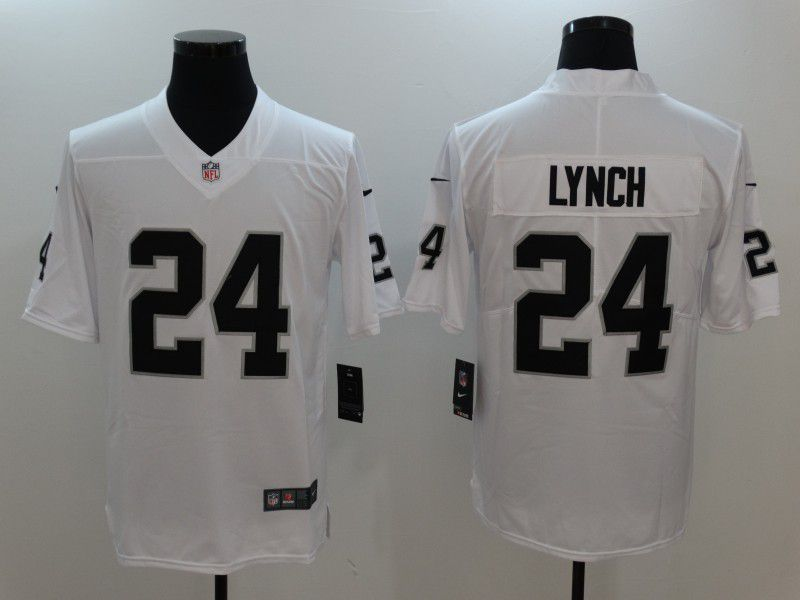 Men Oakland Raiders 24 Lynch White Nike Vapor Untouchable Limited NFL Jersey