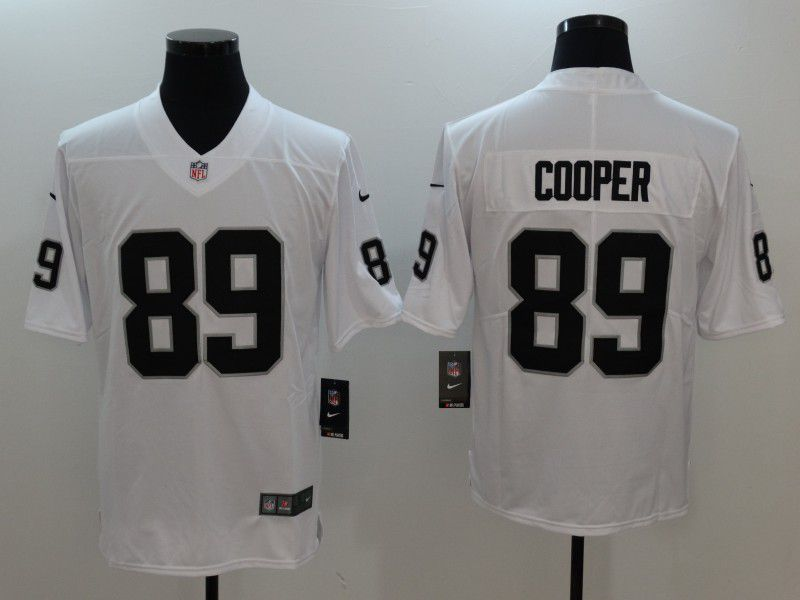 Men Oakland Raiders 89 Cooper White Nike Vapor Untouchable Limited NFL Jersey