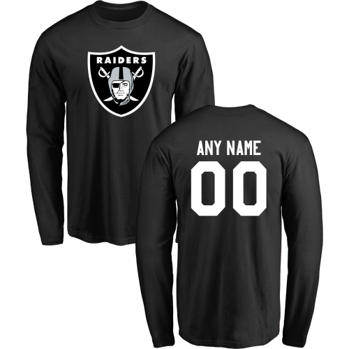 Men Oakland Raiders Design-Your-Own Long Sleeve Custom NFL T-Shirt