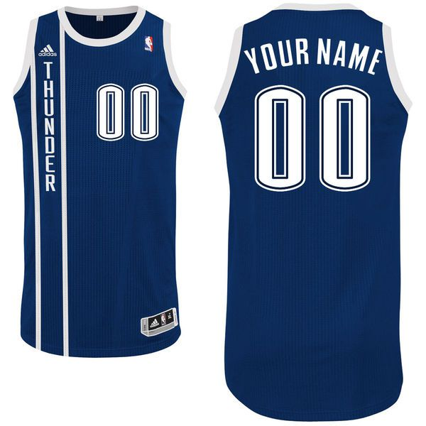Men Oklahoma City Thunder Navy Custom Authentic NBA Jersey