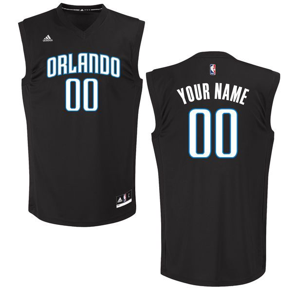 Men Orlando Magic Adidas Black Custom Chase NBA Jersey