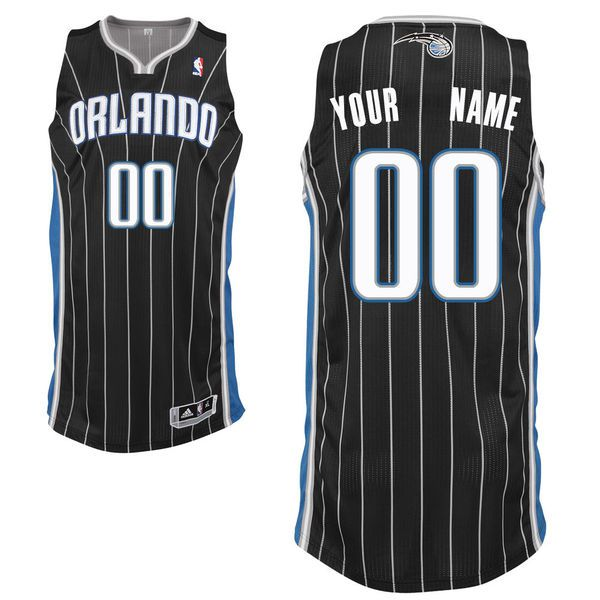 Men Orlando Magic Black Custom Authentic NBA Jersey