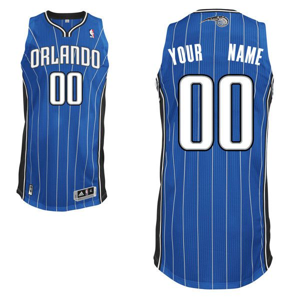 Men Orlando Magic Blue Custom Authentic NBA Jersey