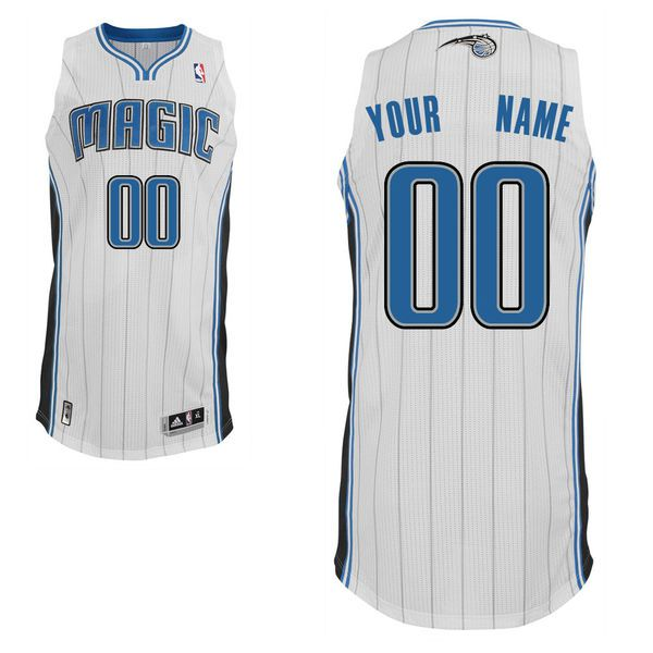 Men Orlando Magic White Custom Authentic NBA Jersey