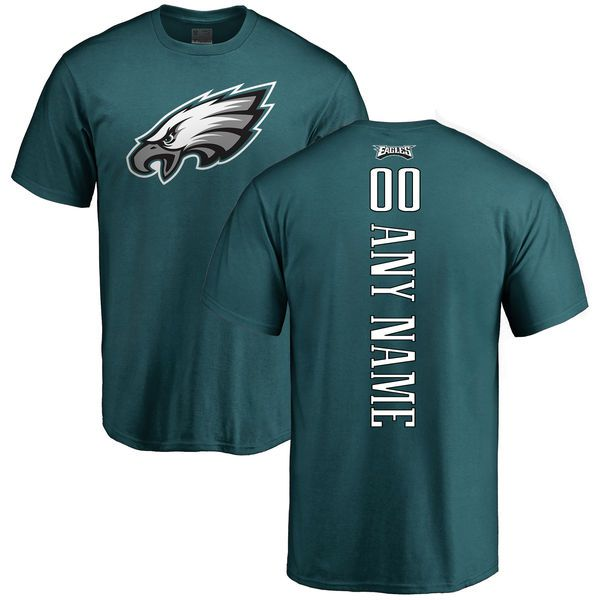 Men Philadelphia Eagles NFL Pro Line Green Custom Backer T-Shirt