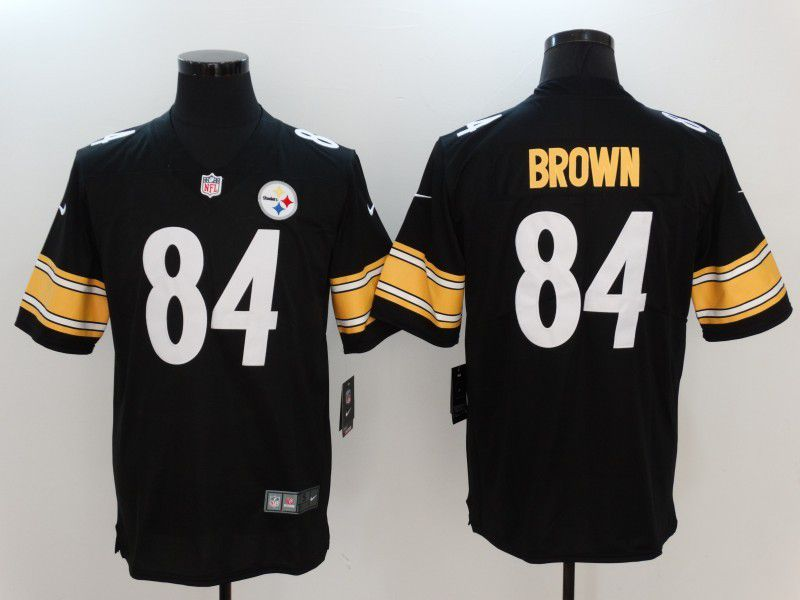 Men Pittsburgh Steelers 84 Brown Black Nike Vapor Untouchable Limited NFL Jersey