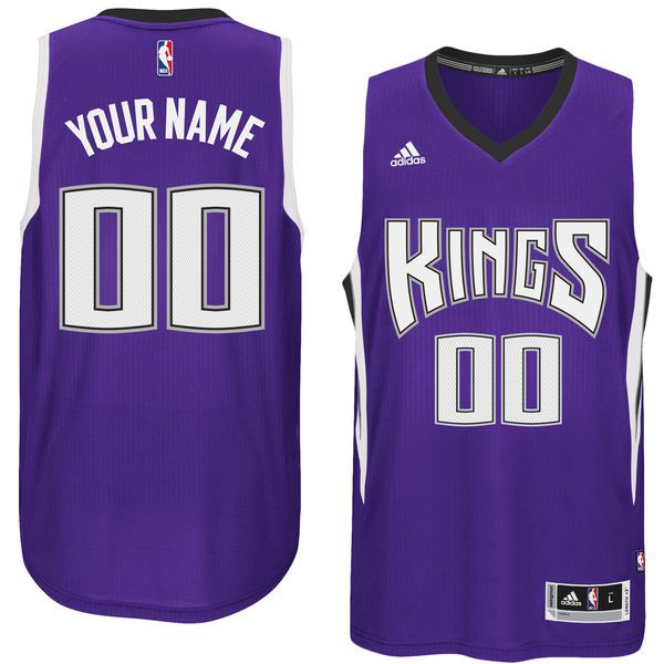 Men Sacramento Kings Adidas Purple Custom Swingman Road NBA Jersey