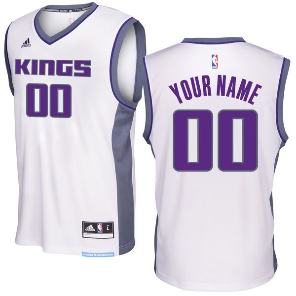Men Sacramento Kings Adidas White 2016 - 17 Custom Replica Home NBA Jersey