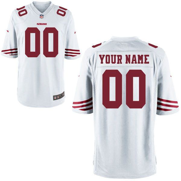 Men San Francisco 49ers Custom Game White NFL Jersey