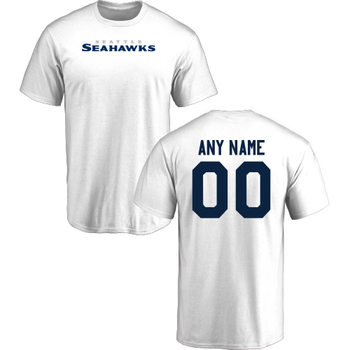 Men Seattle Seahawks Design-Your-Own Short Sleeve Custom NFL T-Shirt