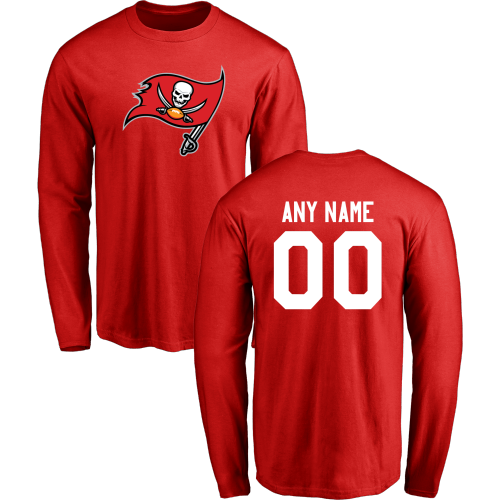 Men Tampa Bay Buccaneers Design-Your-Own Long Sleeve Custom NFL T-Shirt