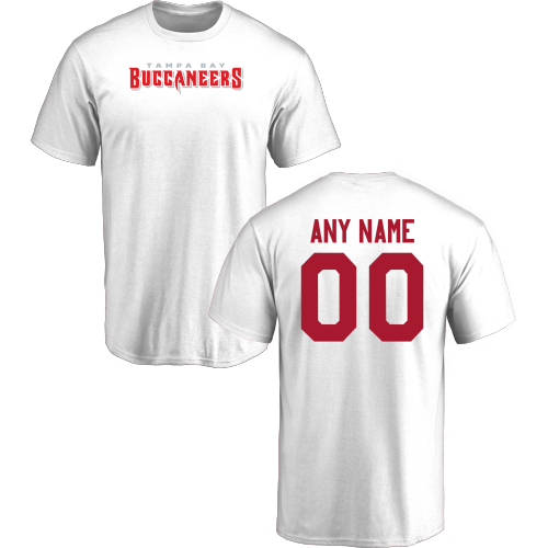 Men Tampa Bay Buccaneers Design-Your-Own Short Sleeve Custom NFL T-Shirt