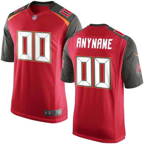 Men Tampa Bay Buccaneers Nike Red Custom Game NFL Jersey