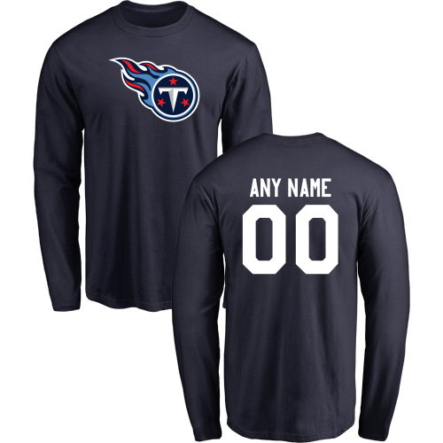 Men Tennessee Titans Design-Your-Own Long Sleeve Custom NFL T-Shirt