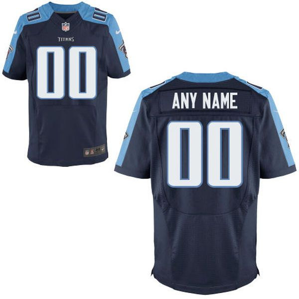 Men Tennessee Titans Nike Navy Custom Elite NFL Jersey