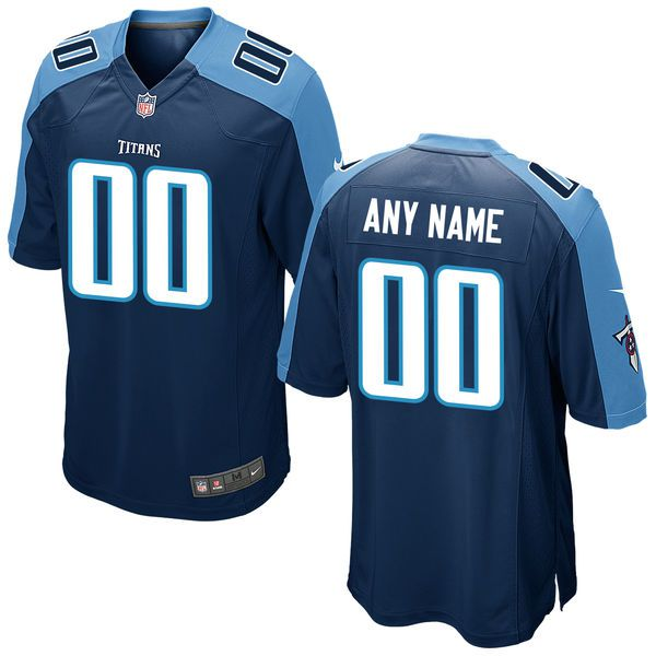 Men Tennessee Titans Nike Navy Custom Game NFL Jersey