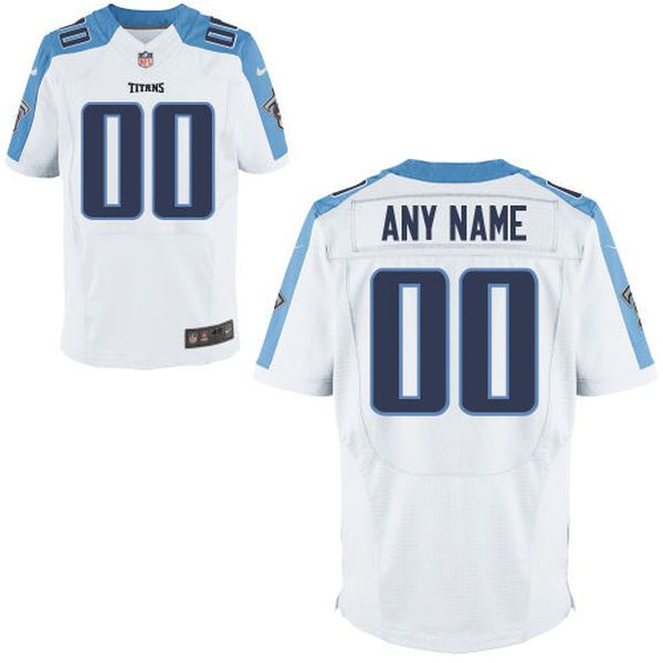 Men Tennessee Titans Nike White Custom Elite NFL Jersey