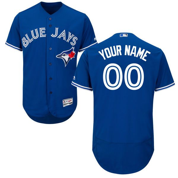 Men Toronto Blue Jays Majestic Alternate Royal Blue Flex Base Authentic Collection Custom MLB Jersey