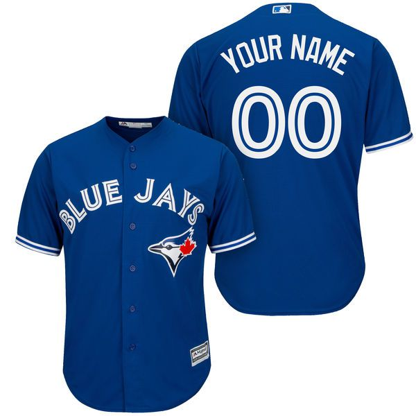 Men Toronto Blue Jays Majestic Royal Blue Cool Base Custom MLB Jersey