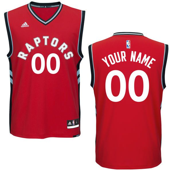 Men Toronto Raptors Adidas Red Custom Replica Road NBA Jersey