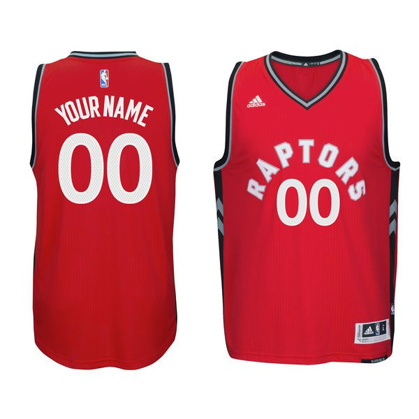 Men Toronto Raptors Adidas Red Custom Swingman NBA Jersey