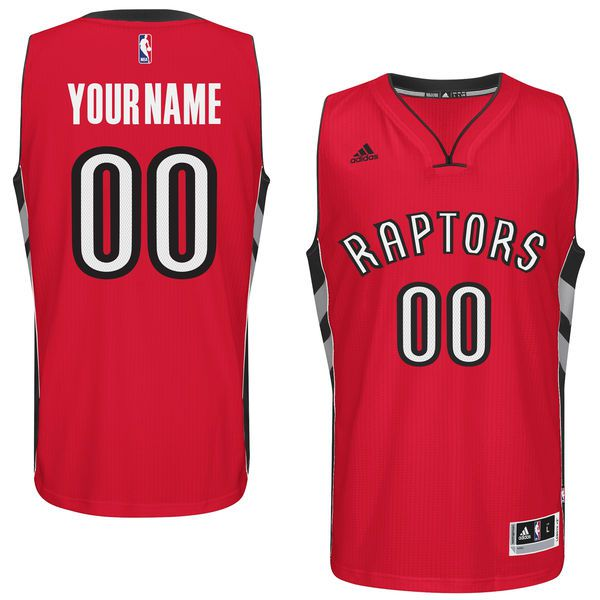 Men Toronto Raptors Adidas Red Custom Swingman Road NBA Jersey