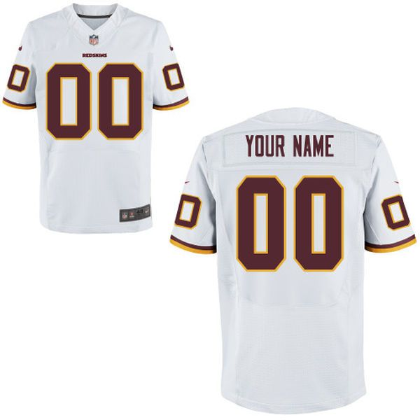 Men Washington Redskins Nike White Custom Elite NFL Jersey