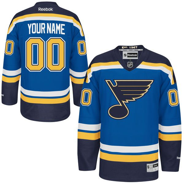 Mens St. Louis Blues Reebok Blue Premier Home Custom NHL Jersey