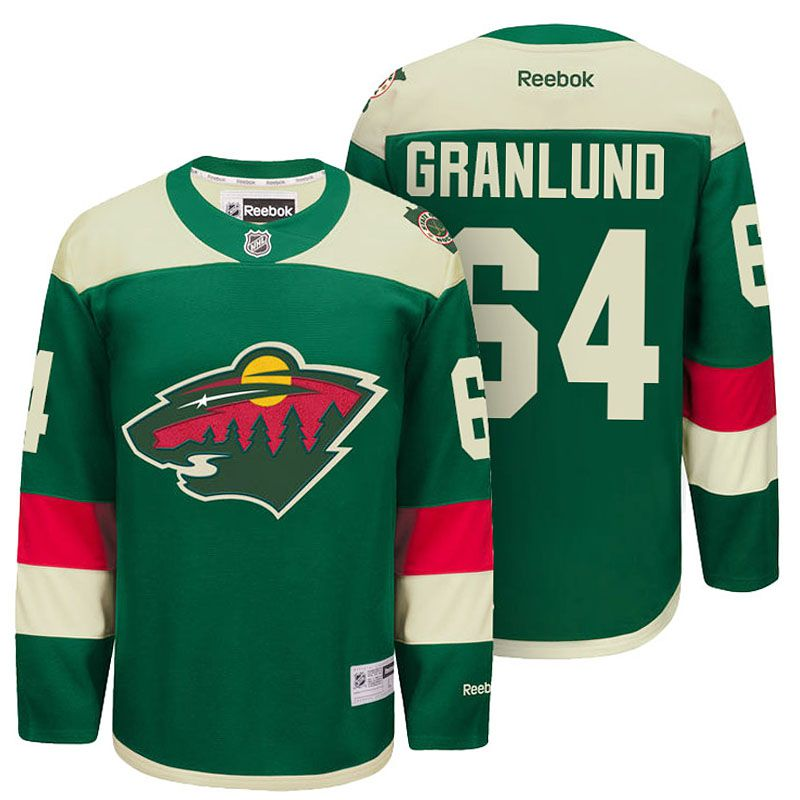Minnesota Wild Mikael Granlund Green 2016 Stadium Series Men NHL Jersey