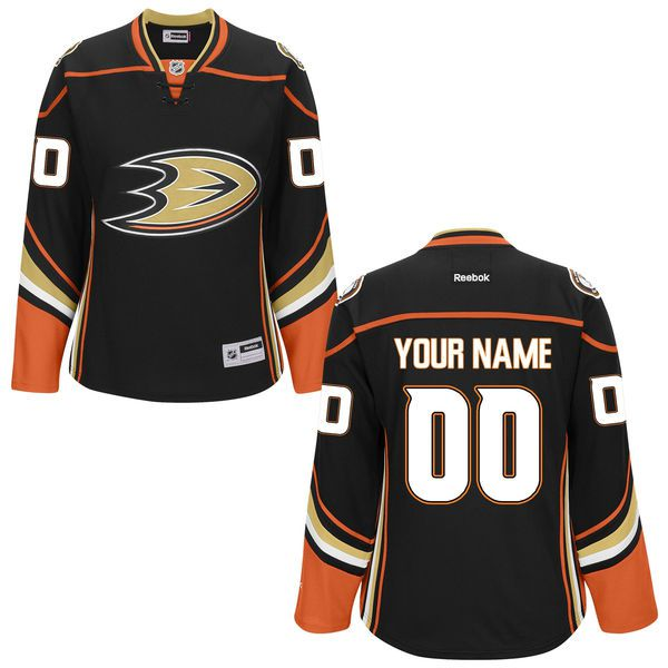 Reebok Anaheim Ducks NHL Women Custom Premier NHL Jersey - Black