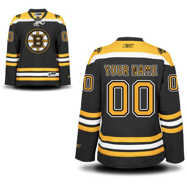 Reebok Boston Bruins Women Premier Home Custom NHL Jersey - Black and Gold