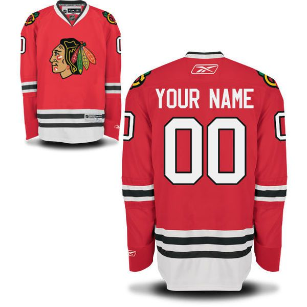 Reebok Chicago Blackhawks Men Premier Home Custom NHL Jersey - Red