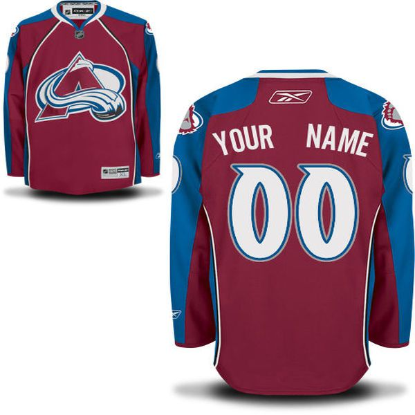 Reebok Colorado Avalanche Men Premier Home Custom NHL Jersey - Burgundy
