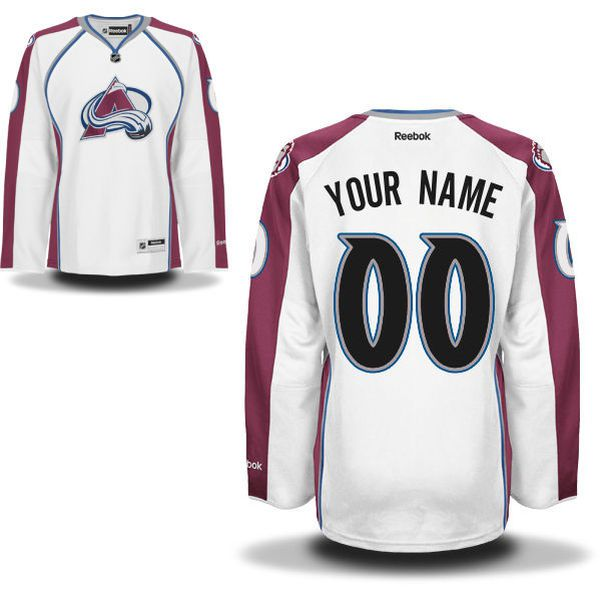 Reebok Colorado Avalanche Womens Premier Away Custom NHL Jersey - White