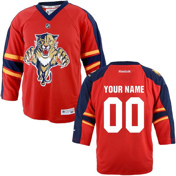 Reebok Florida Panthers Toddler Replica Home Custom NHL Jersey - Red
